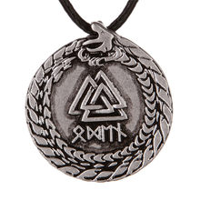 1 pc Viking Valknut Rune charme Dragon Symber Totem Collier meilleur ami Collier ras du cou(China)