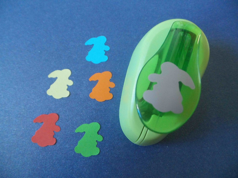 2-2.5cm Rabbit Shape EVA Foam Punch Paper Cutter For Greeting Card Hole Puncher Cortador De Papel De Scrapbook Free Shipping