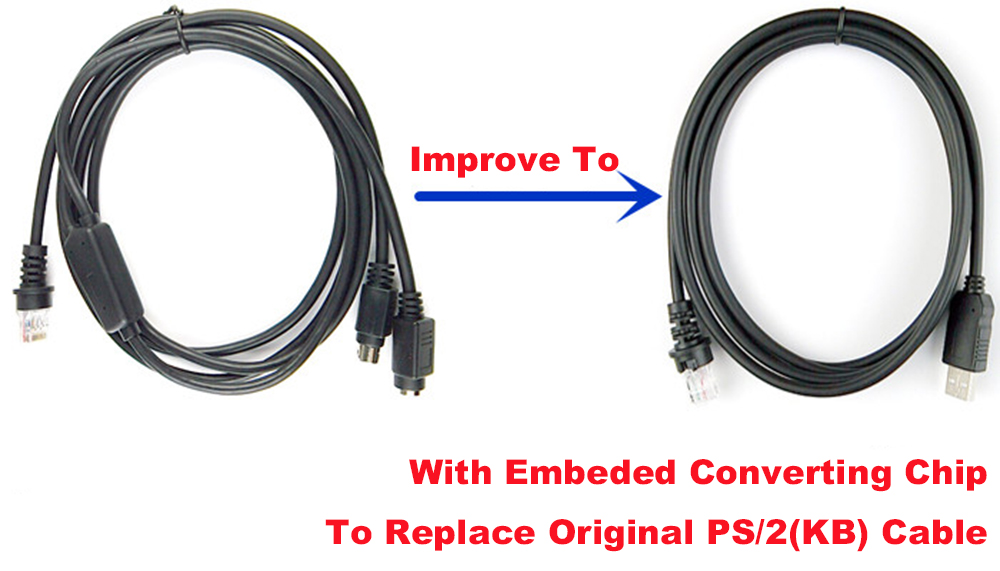 2m USB to RJ45 Cable For Honeywell Metrologic MS9540 MS9520 MS7120 MS5145