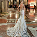 Vestidos De Novia Bridal Gown Rustic Women Korean Vintage Sexy Mermaid Wedding Dress Gothic Lace Backless Wedding Dresses 2017