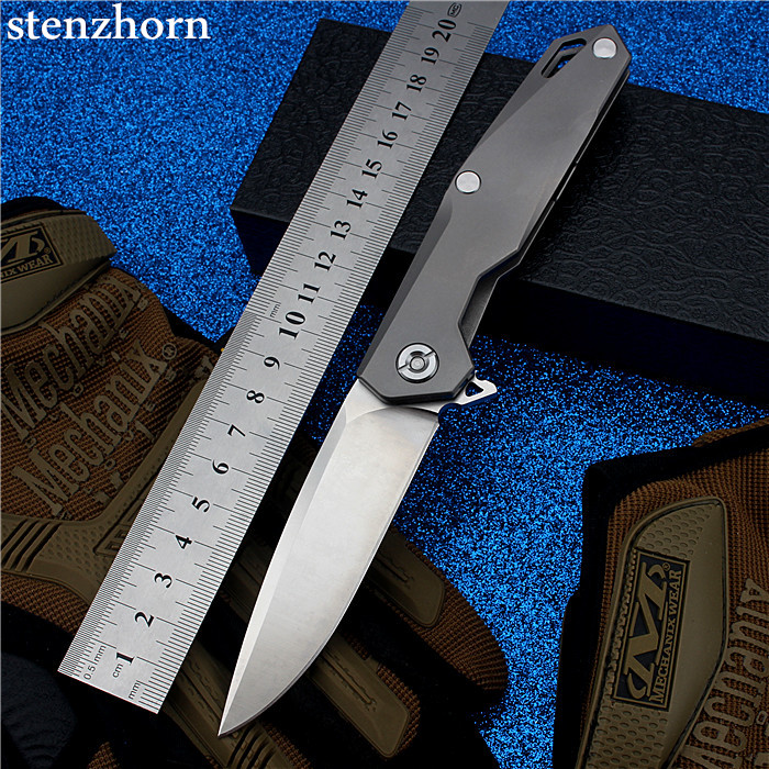 Stenzhorn 2017 New Top Fashion D2 Bearing Knife Self-defense Outdoor Folding with High Hardness Survival Mountain Fruit Small stenzhorn 2017 new real authentic self defense wilderness survival high hardness knife with wild fruit folding outdoor the devil