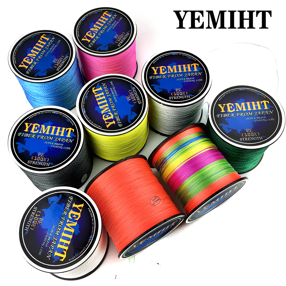 YEMIHT 100M 300M Braid Line for Fishing 4 Strands PE Multifilament fishing line for Carp Fishing