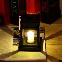 Classic Outdoor Solar Power Yellow LED Candle Light Yard Garden Decoration Tree Lantern Hang Hanging Lamp