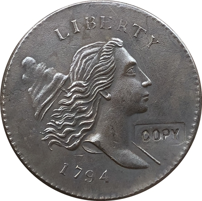 Wholesale 1794 ONE CENT COIN COPY 100% Coper Manufacturing