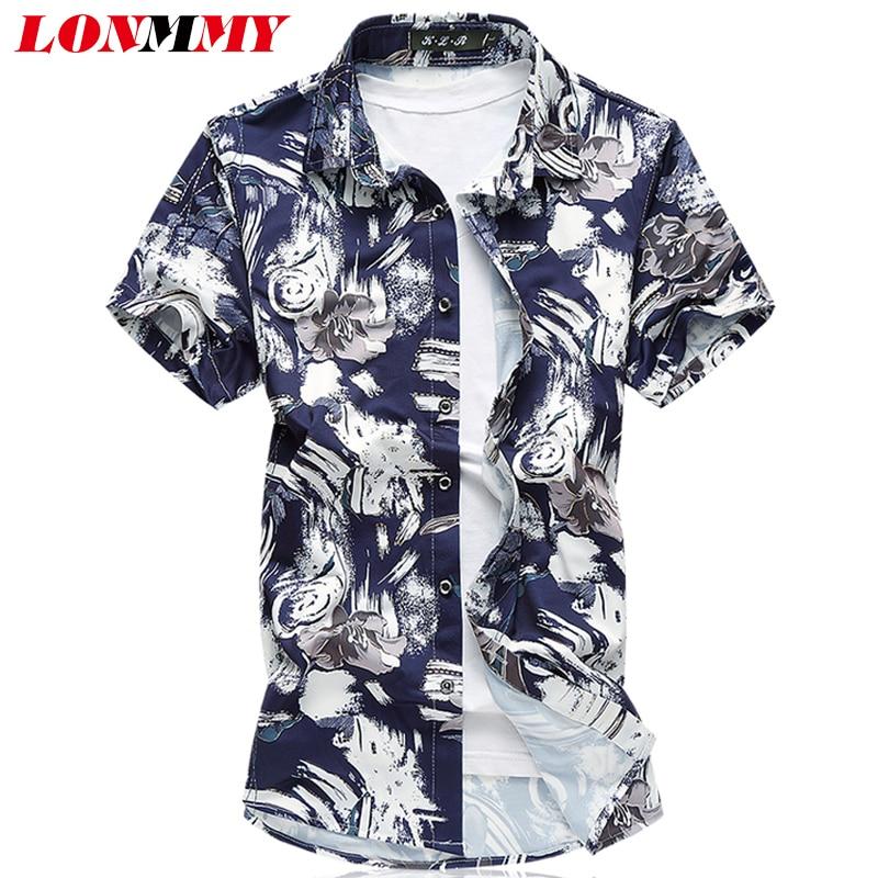 پیراهن مردانه LONMMY PLUS SIZE 7XL پیراهن - لباس مردانه