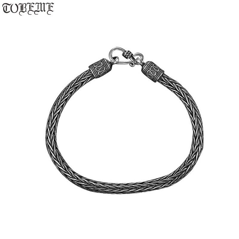 Ročno zapestnica Tajska 925 Siilver zapestnica Vintage šterling - Lep nakit