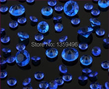 Free Shipping ! 1000 pcs / 4.5mm 1/3 Carat Acrylic Royal Blue color Diamond Confetti Wedding Party favor Decoration(China)