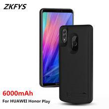 ZKFYS 6000mAh Portable Power Bank Case For Huawei Honor Play Thin And light Fast Phone Charger Battery