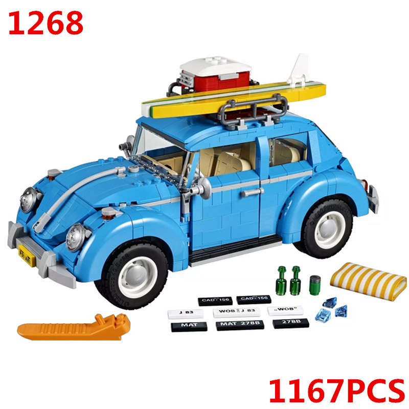 10252 Volkswagen Beetle Car Technic Model Building Blocks Bricks Kids DIY Gifts Toys Sembo 1268