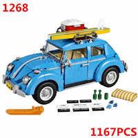 10252 Volkswagen Beetle Car Technic Model Building Blocks Bricks Kids DIY Gifts Toys Sembo 1268