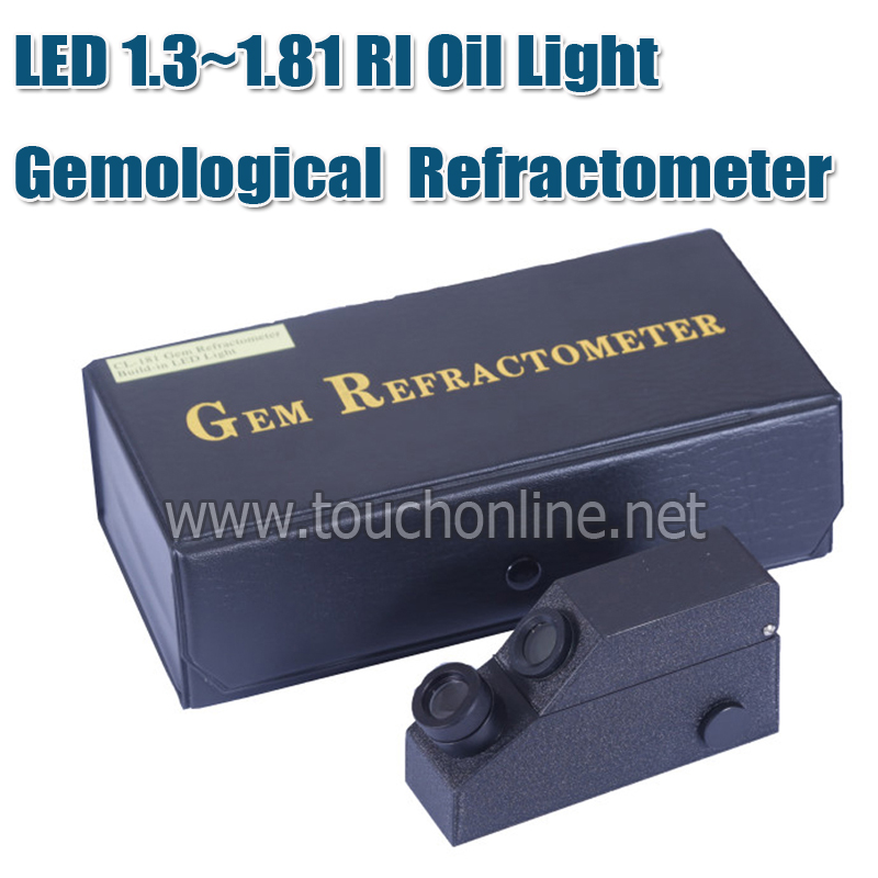 LED 1.3~1.81 RI Oil Light Gemological Gemology Gemstone Gem Refractometer TTG-181 wholesales 10% 30%water honey refractometer without calibration oil rhf 30atc