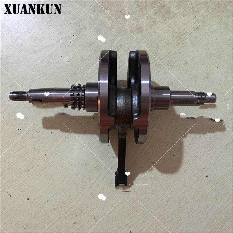 XUANKUN QS125-3ABCEFGHL Crank Connecting Rod Assembly GSX125 Balance Shaft Crankshaft Bearing xuankun 150 qs150t 3 scooter crankshaft connecting rod crankshaft bearing crank