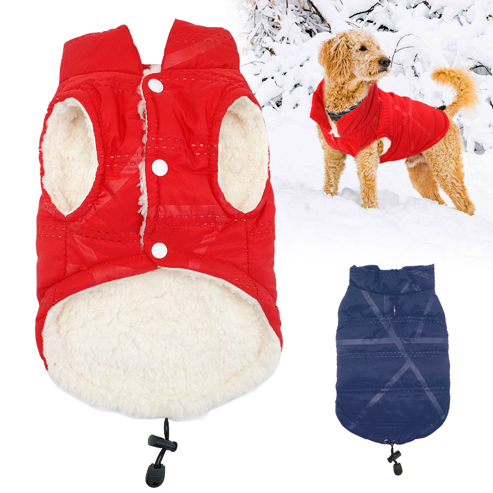 f092aa5bc85a French Bulldog Dog Clothes Winter Pug Pet Coat Warm Cotton Dogs Jacket  Clothing For Small Medium