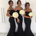 Cheap 2017 New Long Black Bridesmaid Dresses Long Coral Color  Bouquet Sleeveless Sweetheart Floor Length Chiffon Custom Made