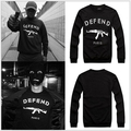 New  Mens Clothing Fashion DEFEND Gun Print 3D Pullovers Sweatshirts Breaking Bad GIV Hoodie Jacket Baseball Style Shirt