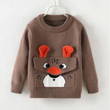 Ajlong/свитер для маленьких девочек и мальчиков; детские топы