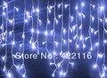 3.5 m 100 SMD Blanco Festival de Vacaciones Cortina de Luces de La Boda Tira de la lámpara bar de hielo LED Cadena Guirnaldas para la FIESTA de HADAS NAVIDAD
