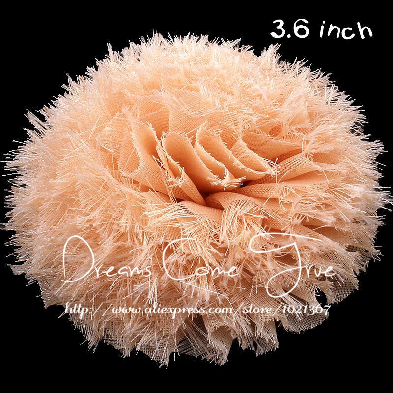 """Ev ve Bahçe'ten Yapay ve Kurutulmuş Çiçekler'de 200 adet/grup 3.6 """"14 Renkler Moda Yapay Chic Yıpranmış Şifon Çiçek saç aksesuarları Kız Bebek Kafa Bantları Için/Elbise/ ayakkabı'da  Grup 3"""