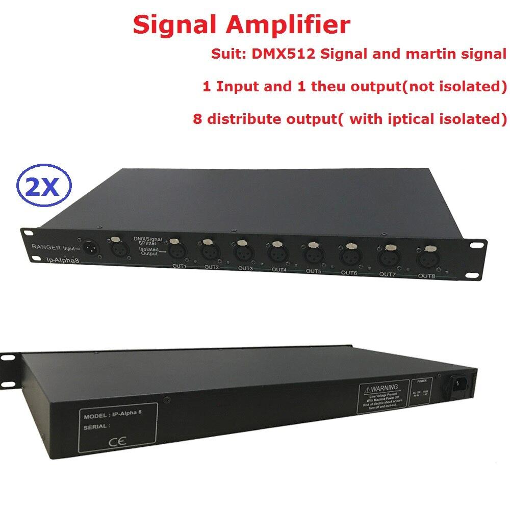 DHL/FedEx доставка Высокое качество 8 канальный разделитель DMX DMX512 свет прожекторов усилитель сигнала Splitter 8 способ DMX Дистрибьютор
