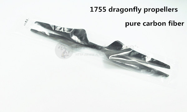 DIY 1755 pure carbon fiber drangonfly propellers 2 blades (CW/CCW) for DIY FPV drone multirotor S1000 / T1200 abwe 4x 1755 17x5 5 carbon fiber cw ccw propeller prop for rc fpv multirotor