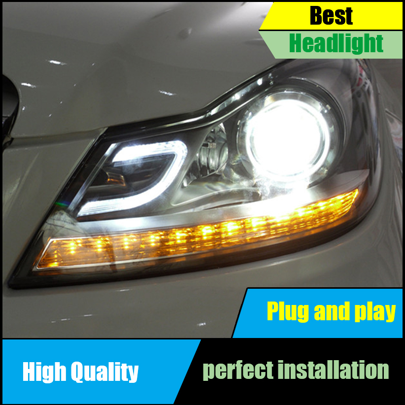 Worldwide delivery w204 led headlight in Adapter Of NaBaRa