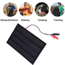 BCMaster Solar Panel solar cells DIY Battery Power Charge 2.5W 18V Power Bank Charging Module Mini Epoxy Solar Panel 120x194MM