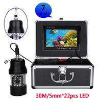15M 30M Underwater Fishing Video Camera Fish Finder 7 Inch Color Screen Waterproof 22 LEDs 360 Degree Rotating 1000 TVL
