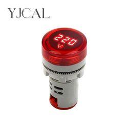 Mini LED Digital Display Voltmeter Alternating Current 60V-500V Digital Display Indicator Aperture 22mm Signal Lamp