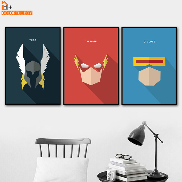 Us 3 36 43 Off Canvas Art Superhero Wall Painting Thor Flash Cyclops Anime Kids Bedroom Decor Posters And Prints Wall Pictures For Living Room In