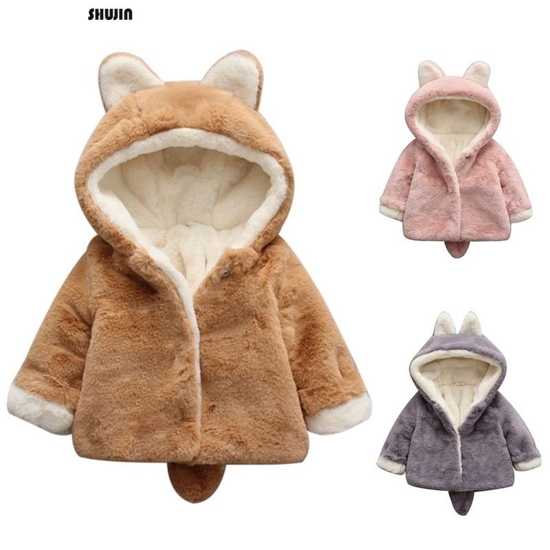 Vornehm Shujin 2019 Herbst Winter Neue Ankunft Koreanische Version Reine Farbe Samt Warme Mode Verdickt Mantel Für Nette Süße Baby Mädchen Preisnachlass