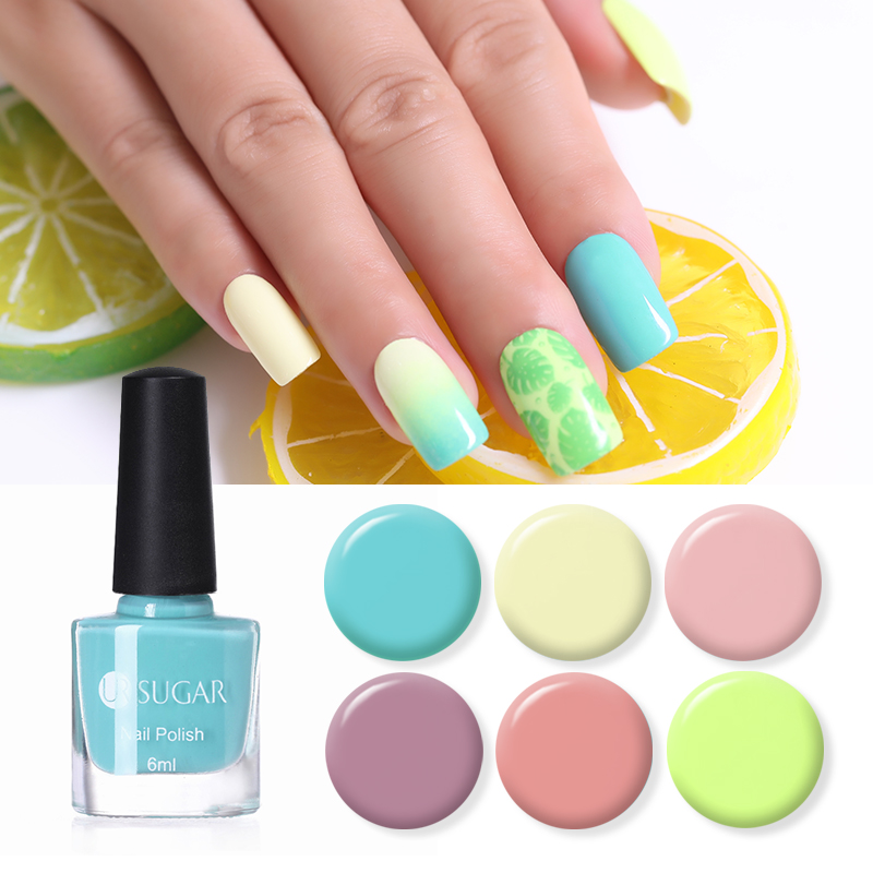 UR SUGAR 6ml Candy Color Nail Polish Light Pink Yellow