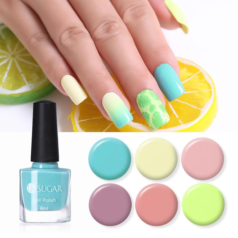 UR SUGAR 6ml Candy Nail Color Nail Polish Light Pink