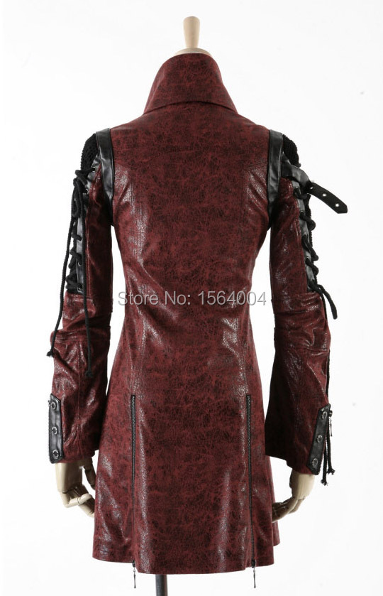 383180bd47c8 Punk Rave Goth Womens Man made Leather Rock studded Cotton Jacket ...