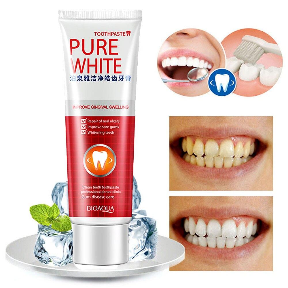 Klar Creme Dental Clareador Schützen Zahnfleisch Zahnpasta Zähne Frische Cranberry Mint Zahnpasta Coconut Blanqueador Dental
