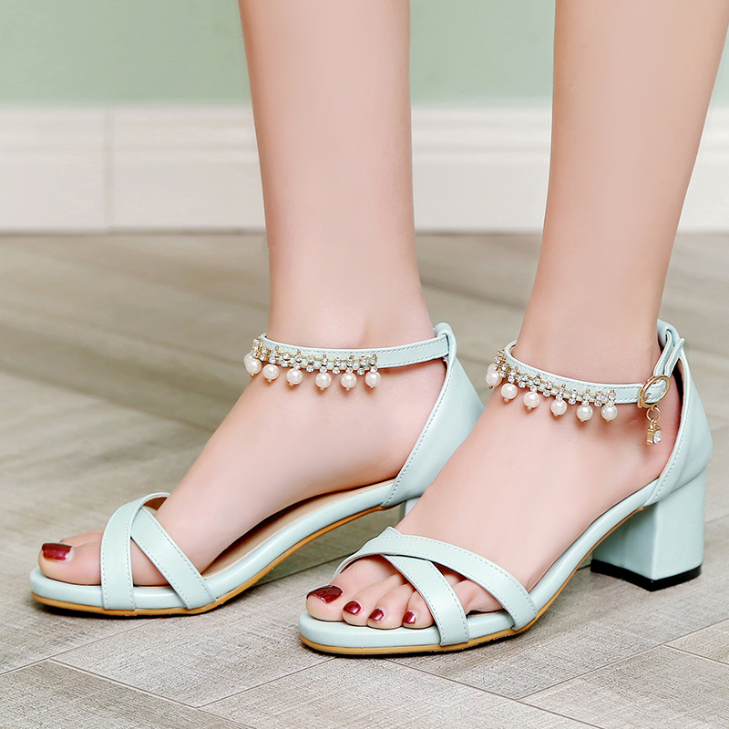 2017 New Big and Small Size 30- 43 Sandals Summer Style Ladies Platforms Fashion Dress  Sweet High Heel Shoes Women F-3 new 2017 spring summer women shoes pointed toe high quality brand fashion womens flats ladies plus size 41 sweet flock t179