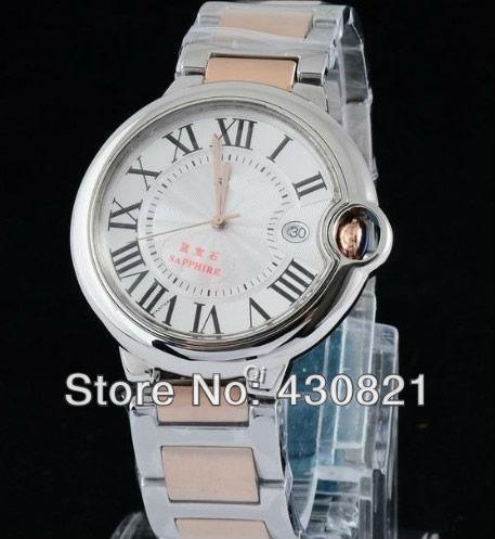 Lady Watch automatic precision steel belt watches  women's wrist watch Rose gold belt
