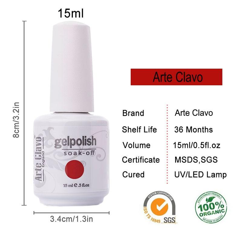 15ml Premium Keyfiyyətli Rəngli Arte Clavo Hər hansı 6 Rəngli - Dırnaq sənəti - Fotoqrafiya 2