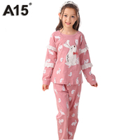 A15 Piżamy Piżamy Dla Dzieci Zestaw Dziewczyny Księżniczka Piżamy 2017 Jesienią Dwa częściowy Zestaw Do Domu Ubrania Kreskówki Bawełna Pijamas Wieku 3 10 16