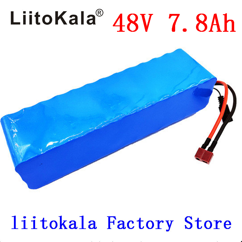 LiitoKala <font><b>48V</b></font> 7.8AH 13S3P <font><b>battery</b></font> pack <font><b>48V</b></font> 15AH <font><b>1000W</b></font> Electric bicycle <font><b>battery</b></font> <font><b>48V</b></font> Lithium ion <font><b>battery</b></font> 30A BMS image