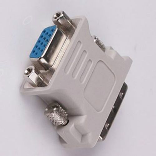 High Quality Easy To Use DVI DVI-I Male 24+5 Pin to VGA Female Video Converter Adapter M/F LCD HDTV HQ ...