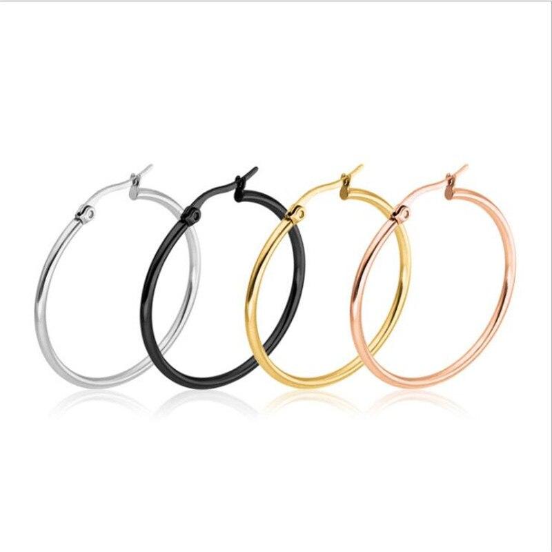 Stainless Steel Black IP plated Hoop Earrings 60mm