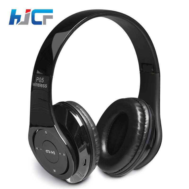 HJCF Over-Ear Bluetooth Headphone Stereo Bluetooth Headset Wireless Super Bass Earphone Headphones With Mic FM Radio SD Slot P05 2016 new metal bluetooth stereo super bass headphones 8600 bluetooth 4 0 high fidelity wireless over ear headset for smart phone