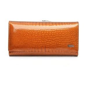Image 4 - genuine leather wallet women alligator long clutch purse cow leather female wallets famous designer womens purses