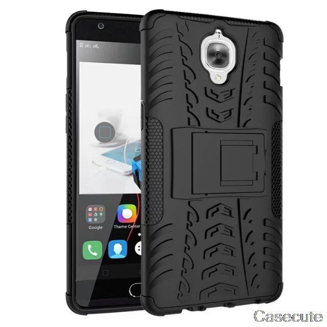 free shipping f13f5 193e7 for Oneplus 3 Heavy Duty Defender Rugged Plastic TPU+PC Armor Shockproof  Kick Stand Case Cover for Oneplus Three oneplus 3T