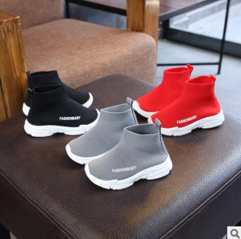Children Casual Shoes 2019 Male Female Sneaker Child High Elastic Foot Wrapping Snow Boots Kids Knitted Socks Shoes Baby Shoes