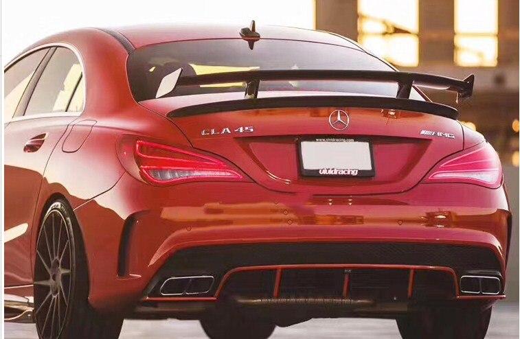 Pour Benz CLASSE CLA W117 CLA45 Carbon Fiber Trunk Aileron Arrière 2013 2014 2015 2016-2018 GT Spoiler Aile couvercle