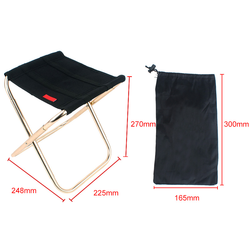 New Style Portable Folding Chair Seat Aluminum Alloy Outdoor Fishing Camping Picnic Beach Foldable Chairs AA