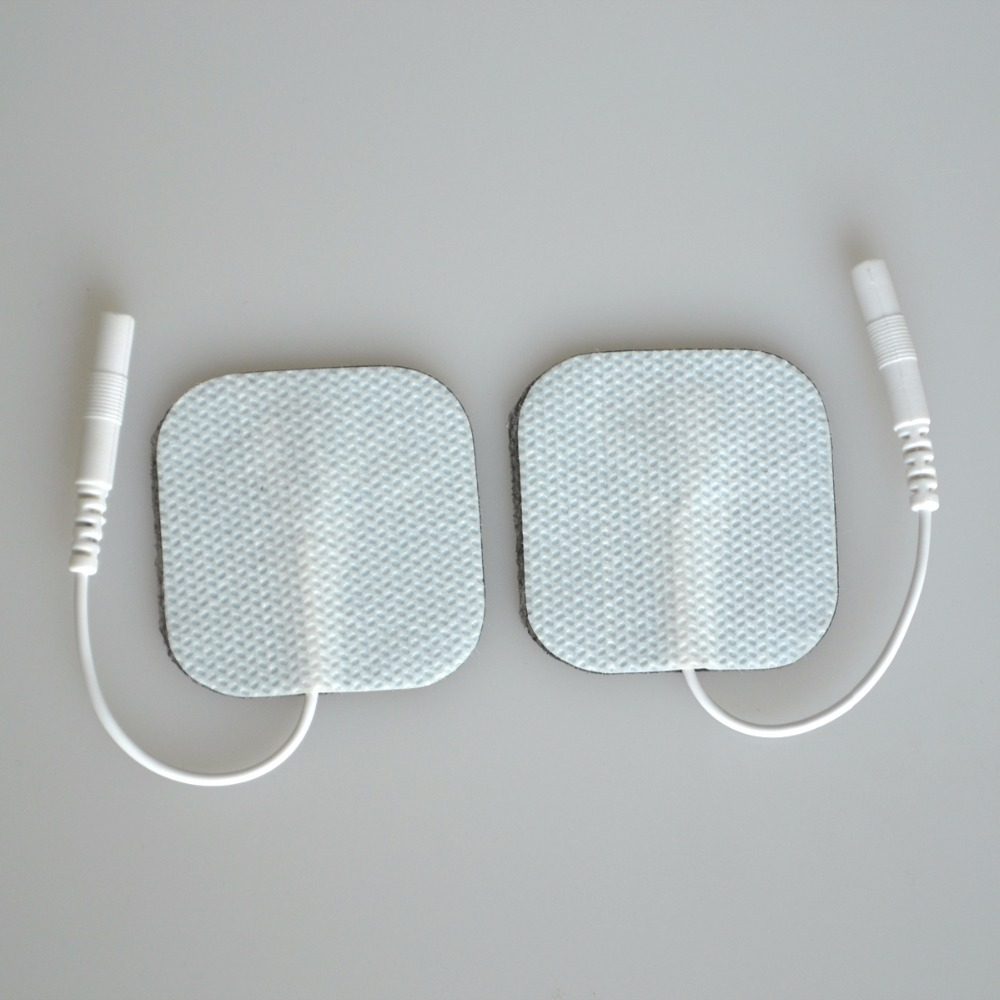 100Prs/Pack New 4*4cm Replacement Nonwoven Self Adhesive TENS Conductive Pads For Connecting Healthcare Body Massager 4 baisi 100