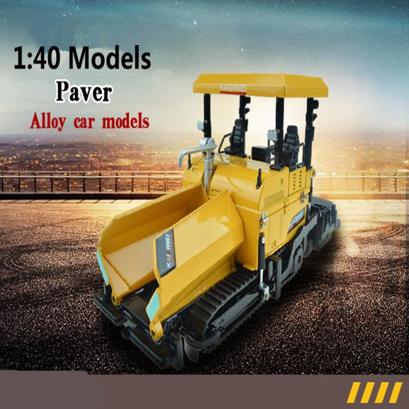 1:40 alloy construction vehicles, high simulation model paver, metal diecasts, toy vehicles, freewheeling, free shipping norscot 1 50 siecast model caterpillar cat ap655d asphalt paver 55227 construction vehicles toy