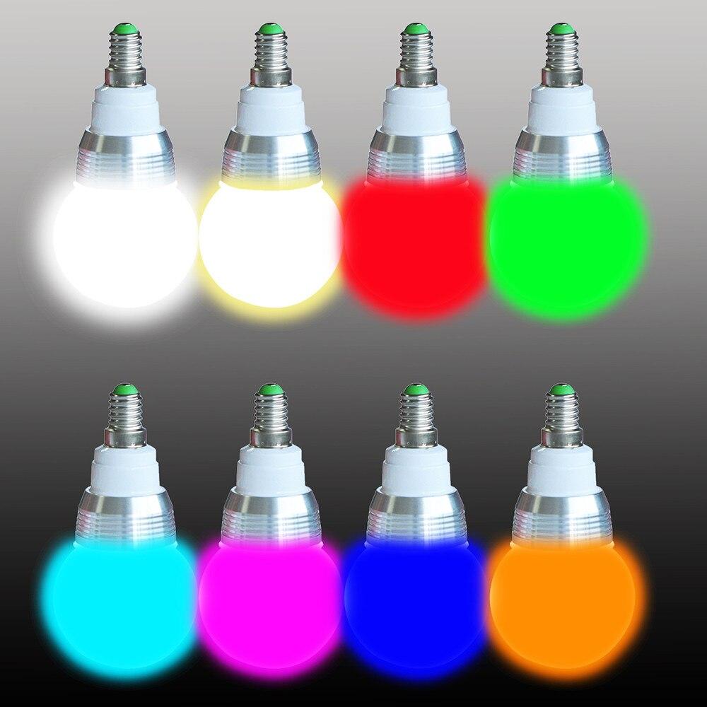 Newest Wireless Remote Controller E27 E14 3W RGB 16Colors LED Light Bulb Lamp 85-265V RGB 16 Color Change Lampada LED Luz цена и фото